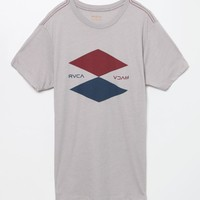 RVCA Double Up T-Shirt - Mens Tee - Cool Grey