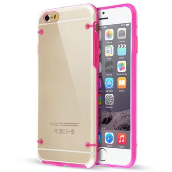 IPhone 6 / 6S Puls Ultra Thin Grow In Dark Crystal Case Cover Pink