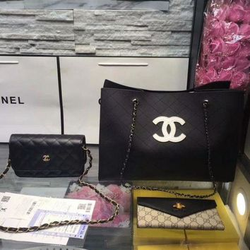DCC3W Year-End Promotion 3 Pcs Of Bags Combination (Chanel Bag ,Chanel Mid Bag ,Gucci Wallet)