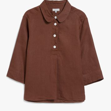 Margaret Howell / Summer Pull On Shirt Chestnut