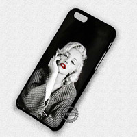 Marilyn Monroe Smoking Red Lips - iPhone 7 6 5 SE Cases & Covers