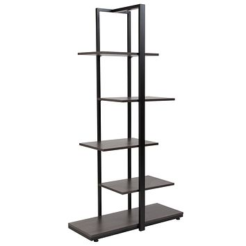 Homewood Collection 5-Tier Decorative Shelf with Metal Frame