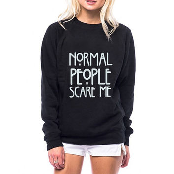 Normal People Scare Me & Friends Sweatshirt
