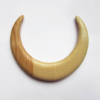 Wooden hair moon, moon fork, hair stick moon, bun holder, crescent moon, hair moon, haarschmuck, haarmond, hair moon fork