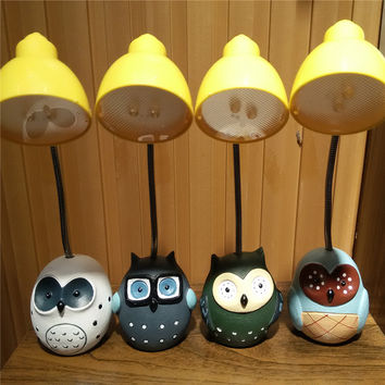 Owl Mini Cartoons Lights Strong Character Gifts Lamp [6283310406]