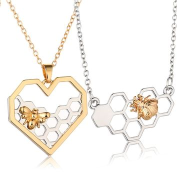 Love for Honey Bee's Cute Necklace in Rose Gold or Silver
