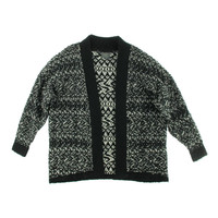 Guess Womens Thalie Knit Metallic Cardigan Sweater