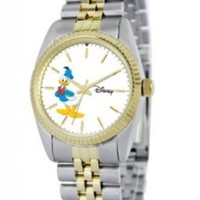 Disney Men's D101S775 Donald Duck Two-Tone Bracelet Watch
