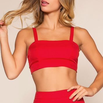 Victoria Crop Top - Red