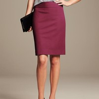 Banana Republic Womens Sloan Pencil Skirt Size 0 - Deep berry