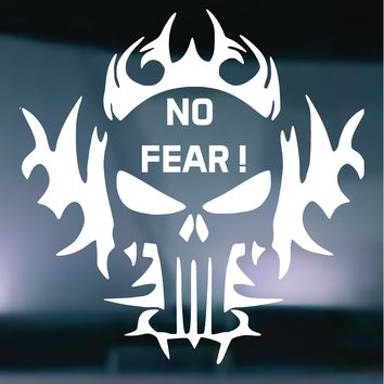 The Punisher NO FEAR Tribal Flames Vinyl Graphic Decal