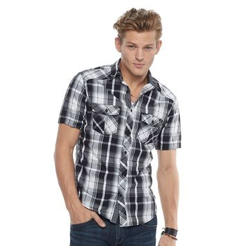 Men's Rock & Republic Plaid Stretch Button-Down Shirt