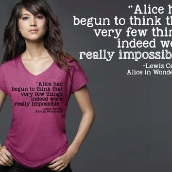 Alice Had Begun to Think T-shirt | Alice In Wonderland