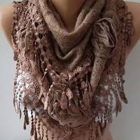NEW Gorgeous Scarf   Elegant and Classy ...cappuccino brown