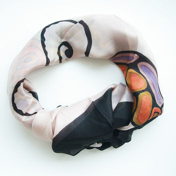 Butterfly Square Pure Silk scarf