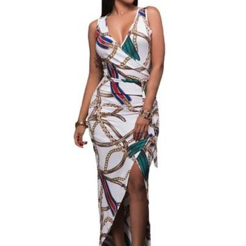 """BODYCON"" Sleeveless Split Women's Maxi Dress"