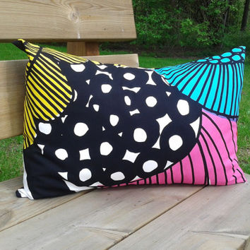 Marimekko 14 x 20 throw pillow cover, modern Scandinavian pillow, sham