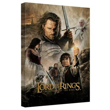 Lord Of The Rings - Rotk Poster Canvas Wall Art With Back Board