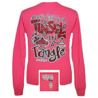 Girlie Girl Originals Tinsel in a Tangle Christmas XMAS Long Sleeve Bright T Shirt