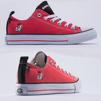 Georgia Bulldogs Official NCAA Skicks Unisex Low Top Sneakers