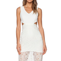 Lovers + Friends Spellbound Midi Dress in Ivory