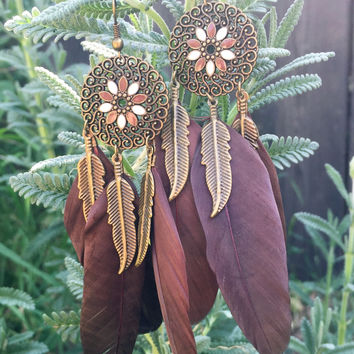 Hippie Feather Earrings #H1011