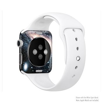 The Swirling Glowing Starry Galaxy Full-Body Skin Set for the Apple Watch