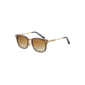 Dark Lens Chocolate Wood Frame Sunglasses by RB
