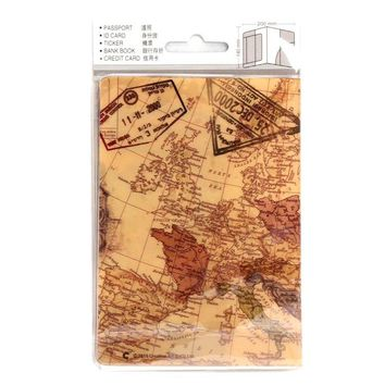 World Map Passport Cover Creative PVC Leather Travel Passport Women Holder Case ID Card Credit