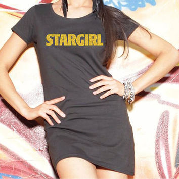 Stargirl Weeknd T-Shirt, The Weeknd Long T-shirt, Weeknd T-shirt,  The Weeknd Starboy, Starboy, Starboy Shirt, Gold Logo.