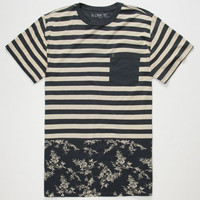 Lira Colonial Mens Pocket Tee Navy  In Sizes