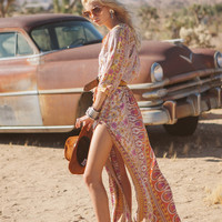 Boho Blossom Maxi Dress - Saffron