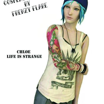 Chloe Price Life is Strange Temporary Tattoos for Cosplayers Custom Made