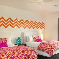 Wall Decals Chevron Geometric Pattern Mural by WallStarGraphics