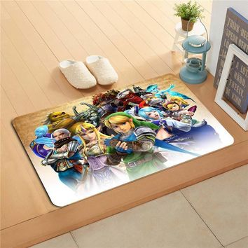 Autumn Fall welcome door mat doormat W620#11 Custom the legend of zelda Anime Watercolor Painting   Home Decor  Floor Mat Bath Mats foot pad F-#9 AT_76_7