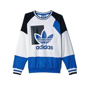 Adidas Women Fashion Color Splicing Sweatshirt