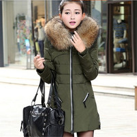 2015 winter jacket women clothing fashion slim coat thicken down jacket plus size lady parkas temperament overcoat = 1932229828