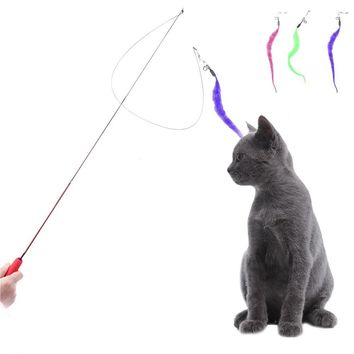 Funny Cat Toy Adjustable Adjustable Length Fairy Plush Fishing Rod Stress Reliever Cat Product Pet Supplies