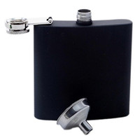 True Fabrications TrueFlask, Soft-Touch Black Flask, 1-pack