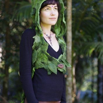 RESERVED FOR BUDMIONE Felt Wood Nymph Elf Rain by frixiegirl