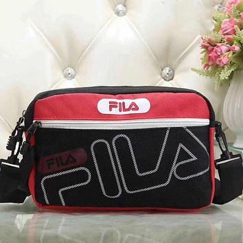 Perfect Fila Women Fashion Leather Satchel Bag Shoulder Bag Crossbody