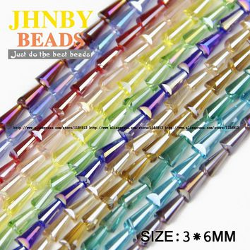 JHNBY Tower shape Upscale Austrian crystal beads conical quality loose beads glass *100pcs supply bracelet Jewelry