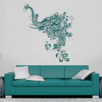 ik2353 Wall Decal Sticker Abstract Monogram elephant living room bedroom