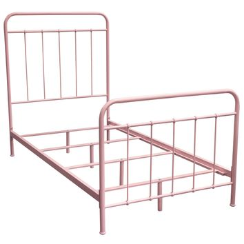 Bailey Pink Powder Coat Metal Twin Bed