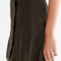 UO Shelly Linen Button-Down Mini Skirt | Urban Outfitters