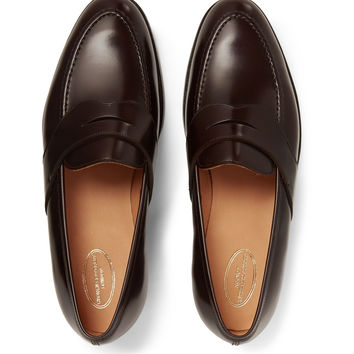 George Cleverley - Bradley Leather Penny Loafers | MR PORTER