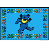 Grateful Dead - Dancing Bear Border Tapestry on Sale for $26.95 at HippieShop.com