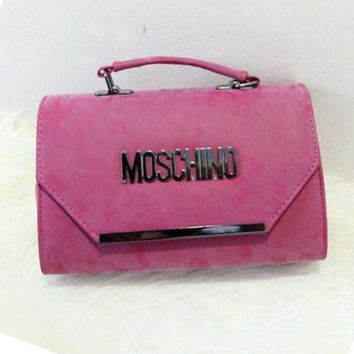 Moschino Fashion Women Shopping Bag Tote Handbag Leather Chain Satchel Shoulder Bag Crossbody Rose Red I-A-GHSY-1