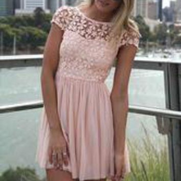 Hot sell Skater Dresses Pink