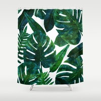 Perceptive Dream || #society6 #tropical #buyart Shower Curtain by 83oranges